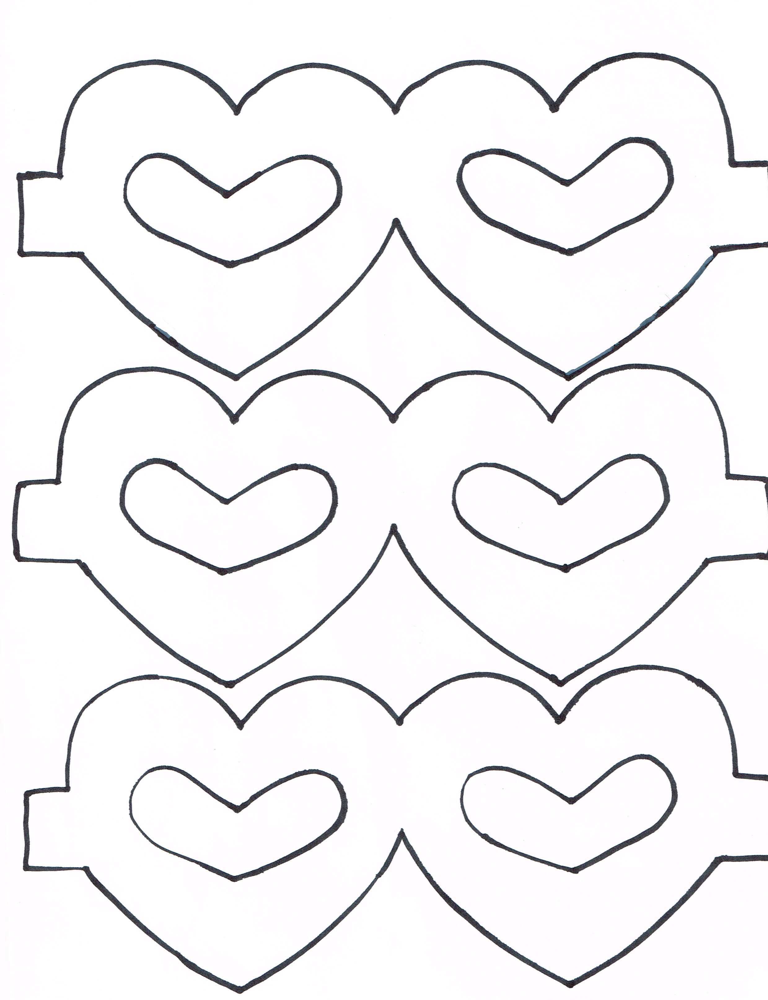 Heart Masks For A Preschool Classroom Craft Print Heart