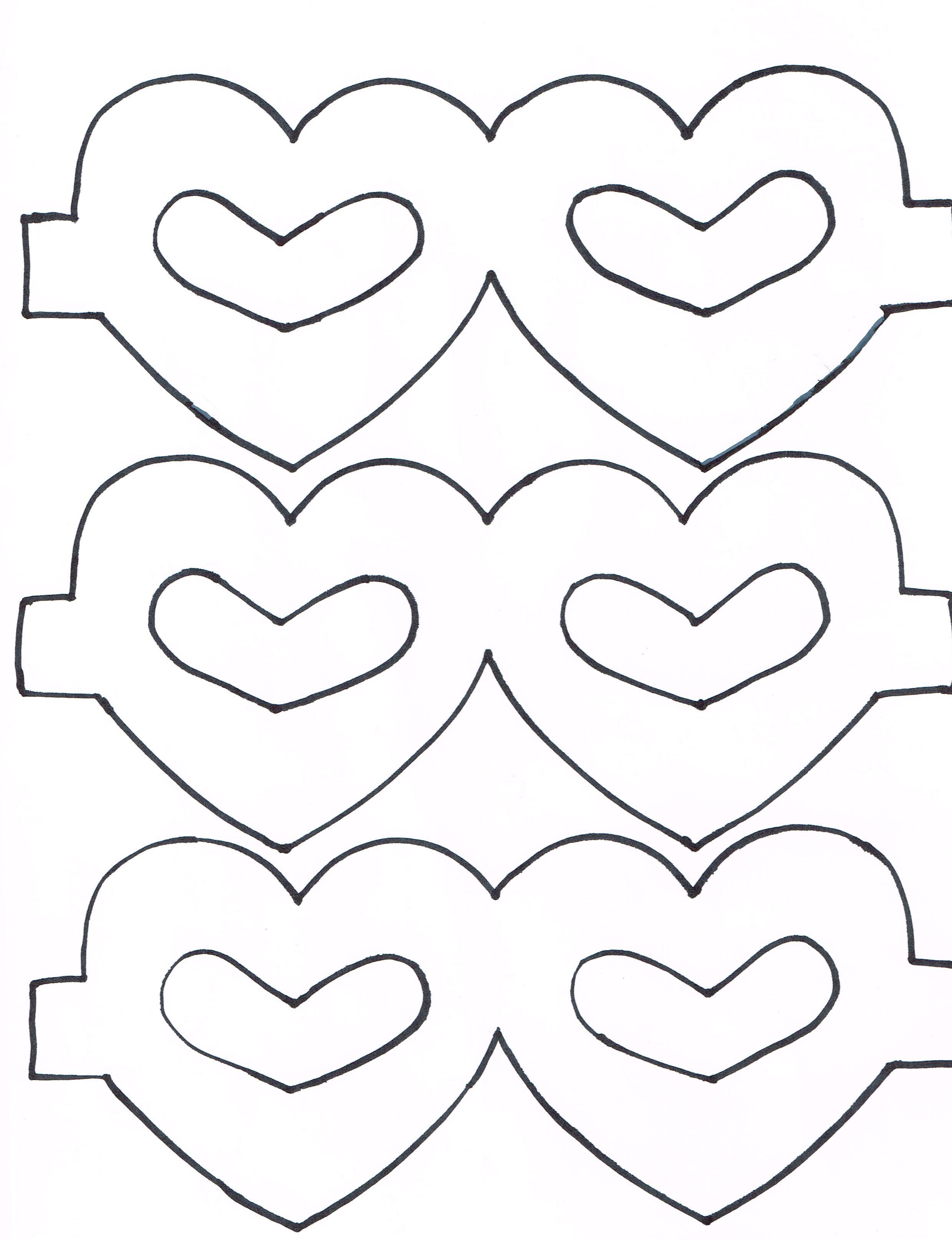 Heart Masks For A Preschool Classroom Craft Print Heart
