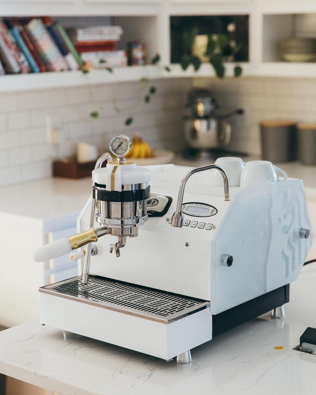 "La Marzocco Home on Instagram ""All class in White & Brass"