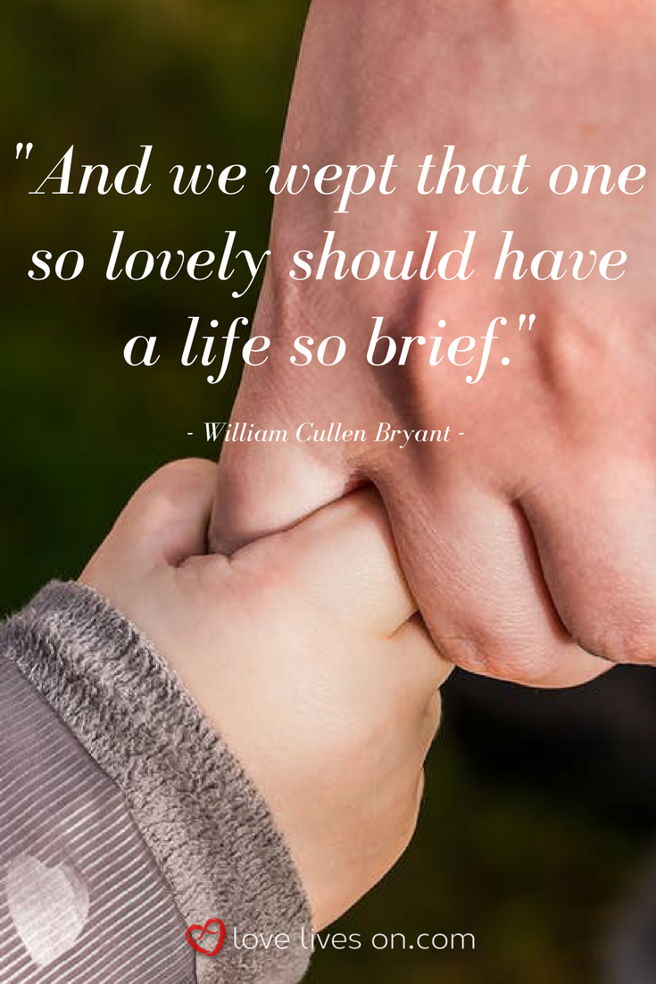 child loss quotes grieving a child an emotional quote about child loss by william cullen bryant