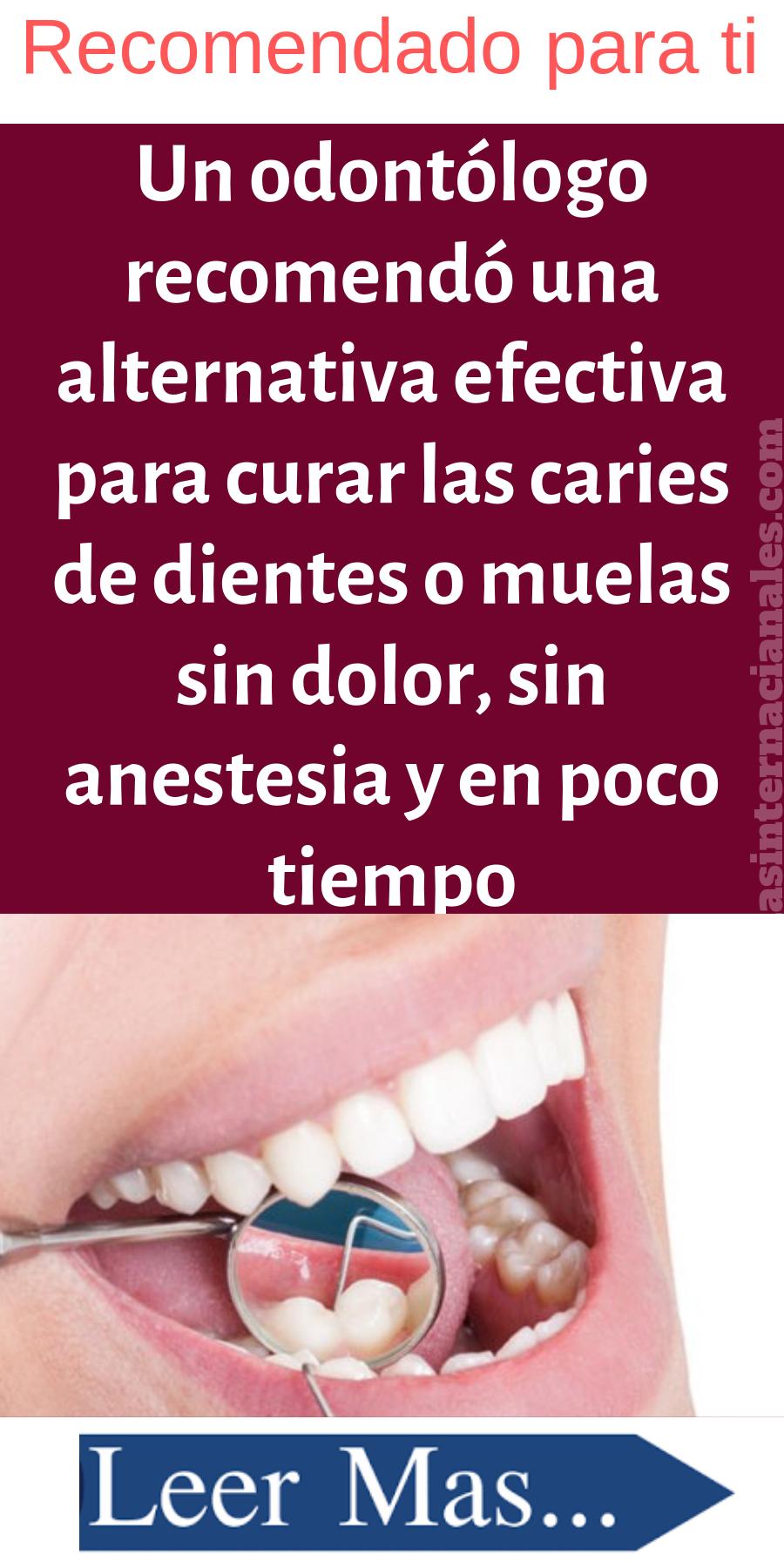 Anestesia casera para dientes