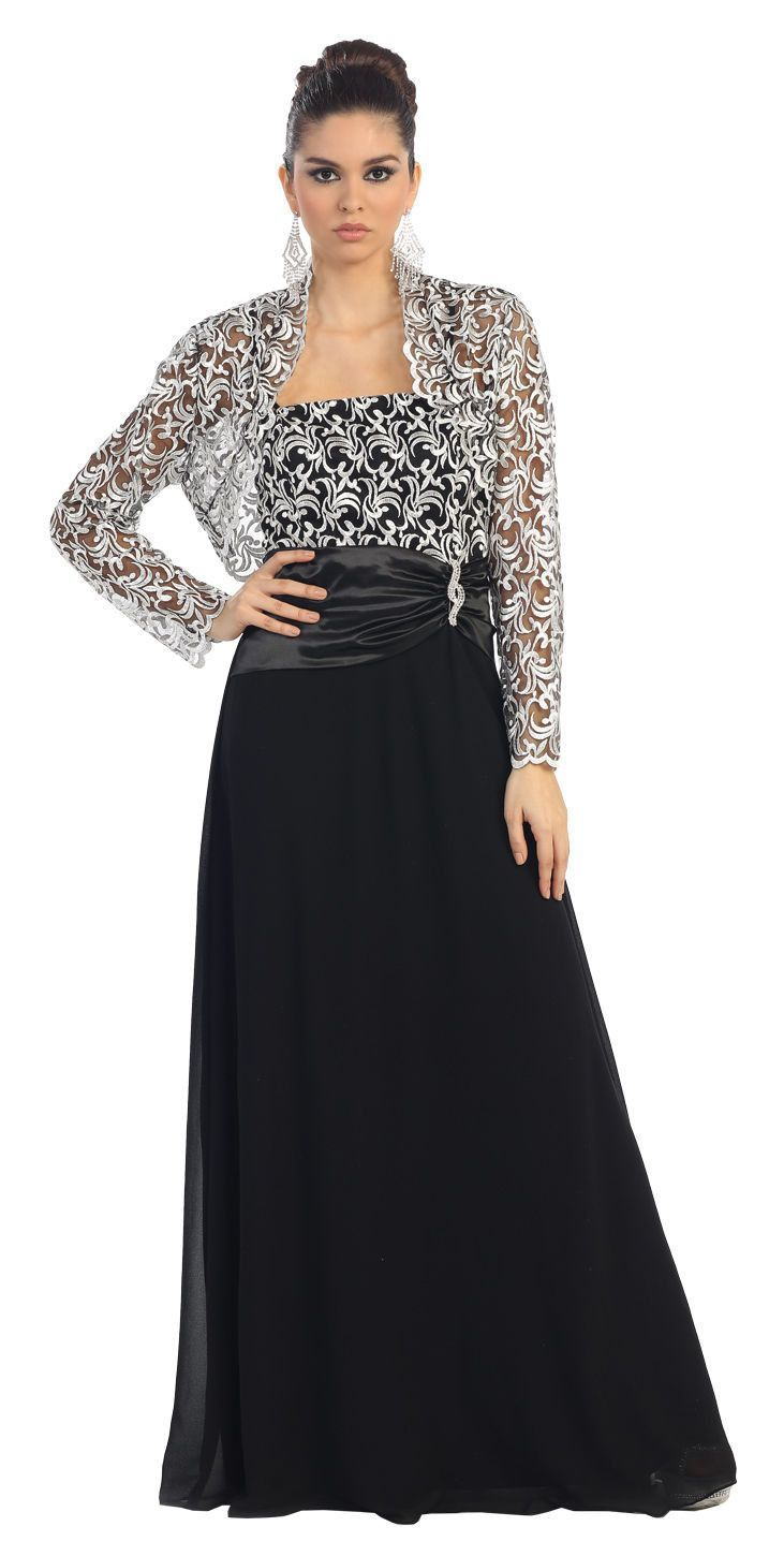 Long mother of the bride dress plus size formal gown dress