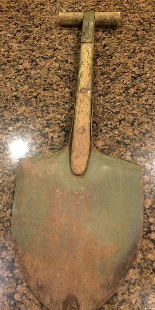 Vintage Trench Shovel w Wood Metal T Handle Stamped US Awesome Decor Army | eBay