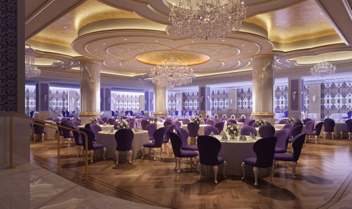 Wedding banquet halls ceiling lighting luxurious banquet for Wedding reception location ideas