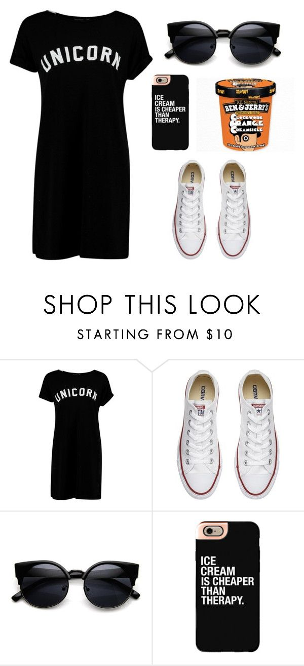 Sunday by iaracf on Polyvore featuring moda, Boohoo, Converse and Casetify