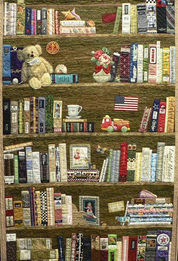 Book Case Quilt Displayed At Shipshewana Quilt Festival In June 2013