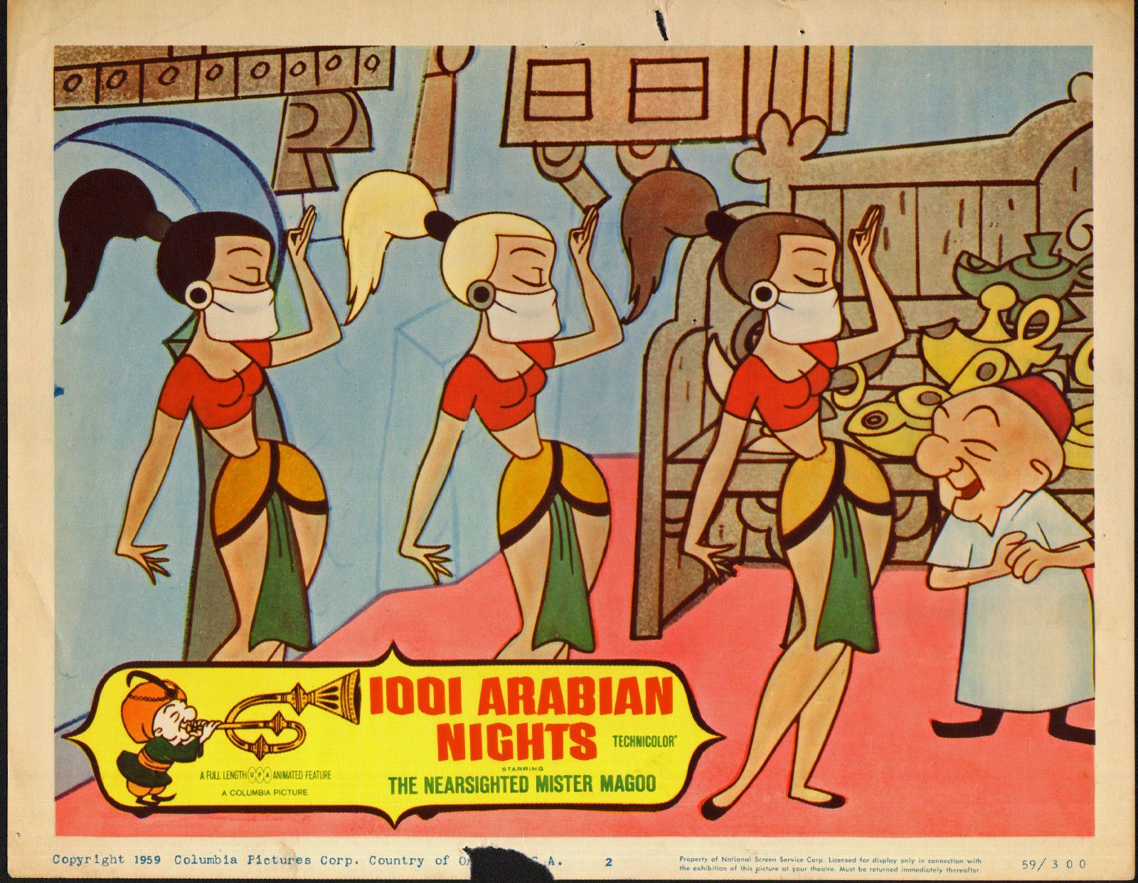 1001 Arabian Nights Original 1959 Lobby Card Mister Magoo 11x14