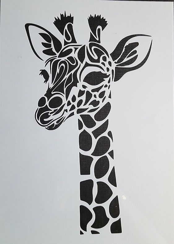 stencil schablone textilgestaltung airbrush giraffe a 4 s. Black Bedroom Furniture Sets. Home Design Ideas