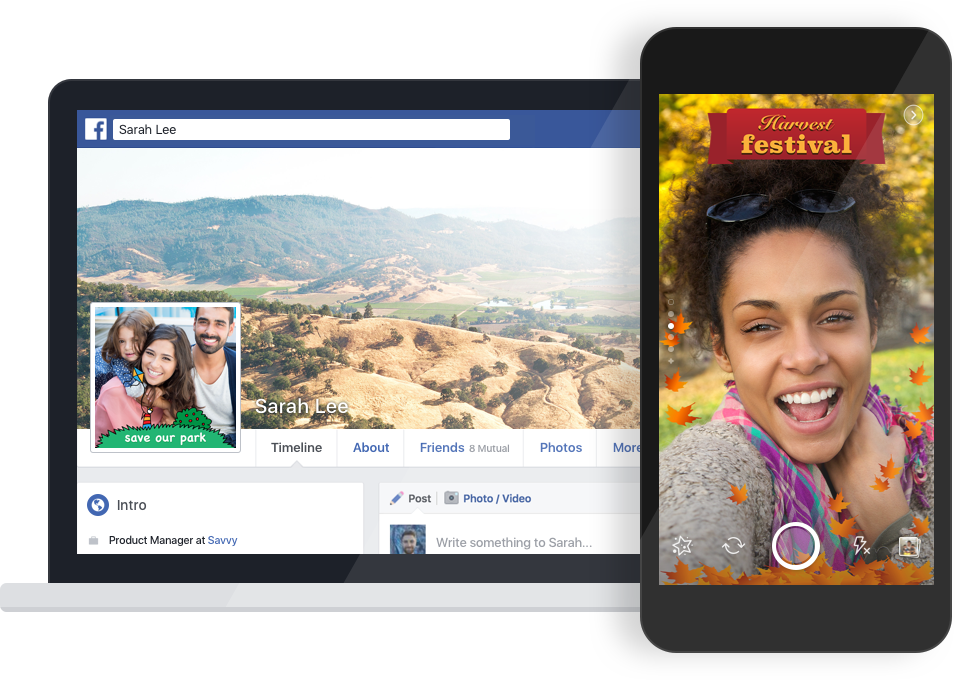 Facebook is taking another page out of Snapchat's book. As noted by TechCrunch, the company has started testing a feature that would let anyone make photo frames for profile pictures, #Facebook #Snapchatlikephotoframes #Facebooktests