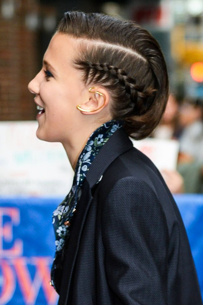 Daily Beauty Buzz Millie Bobby Browns Side Braid Hairstyle