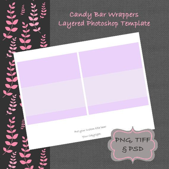 This template is perfect for creating your own designs for - candy bar wrapper template