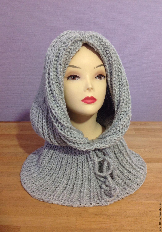 Связать шарф капюшон капор страна мам