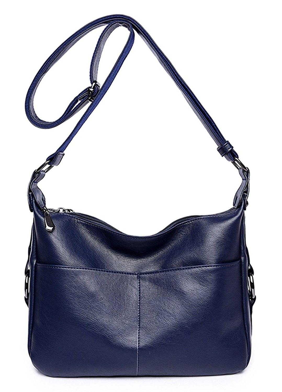 1dd7d387a3e Women s Bags, Top-Handle Bags, Women s Retro Shoulder Bag Hobo Double  Zipper Crossbody Handbag from Dreubea - Dark Blue - CW18979A6TQ  WomensBags  ...