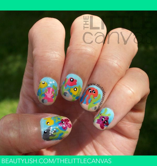 Under The Sea Nails Little Canvas A S Thelittlecanvas Photo Beautylish