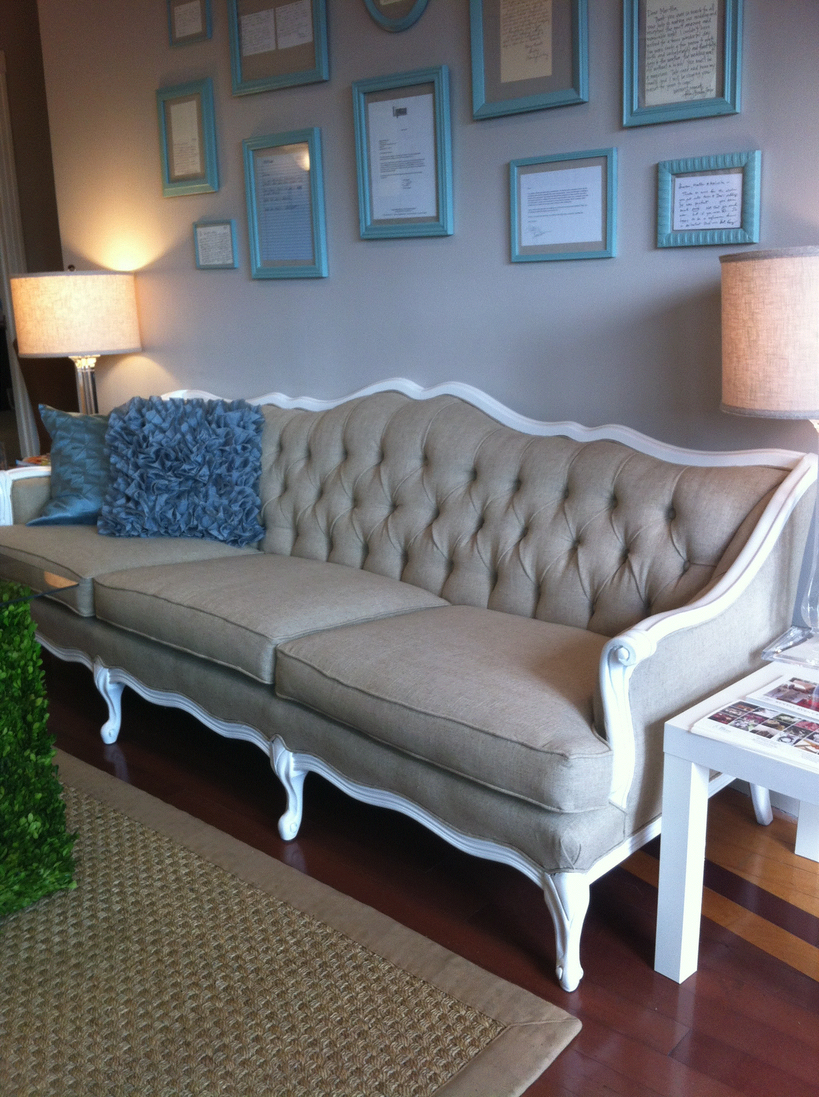Old sofa reupholstered google search for the home pinterest Reupholster loveseat