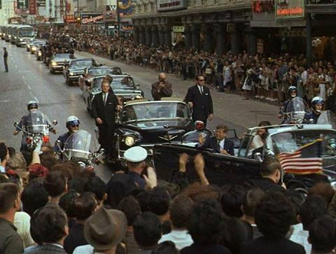 Nov 21 1963 Jfk Motorcade On Houston St In Front Of