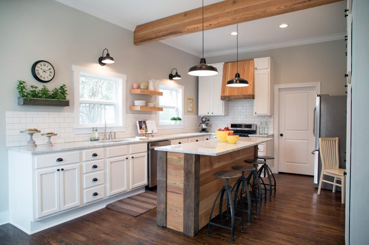 Fixer upper kitchen cabinet pulls - Fixer Upper Kitchen Subway Tile Fixer Upper Tackling The Beast Hgtv S Fixer Upper With