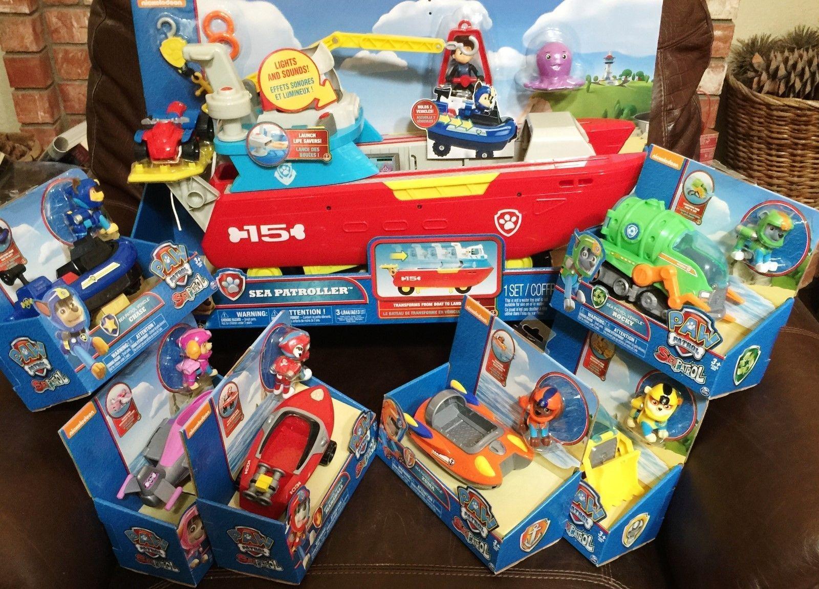 Quatang Gallery- Paw Patrol Sea Patroller W 6 Vehicle Playsets Complete Set Transporter Boat Paw Patrol Paw Patrol Toys Playset