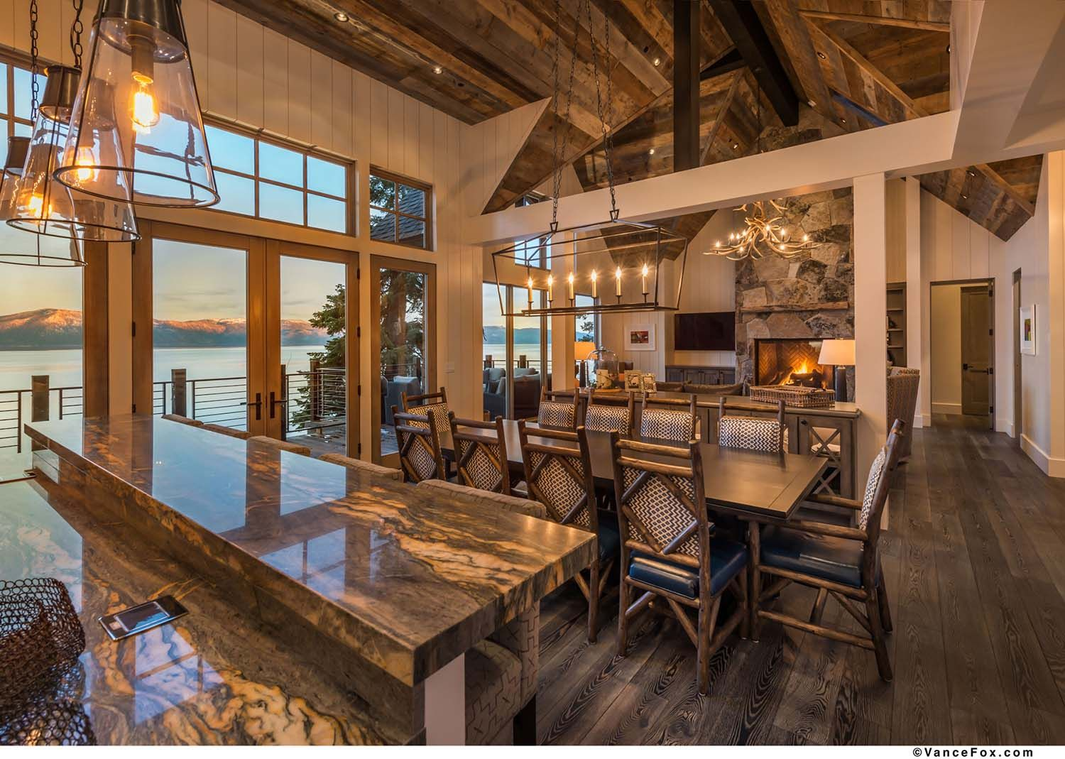 Beautiful Rustic Lakefront Home Tucked Away On The Shores