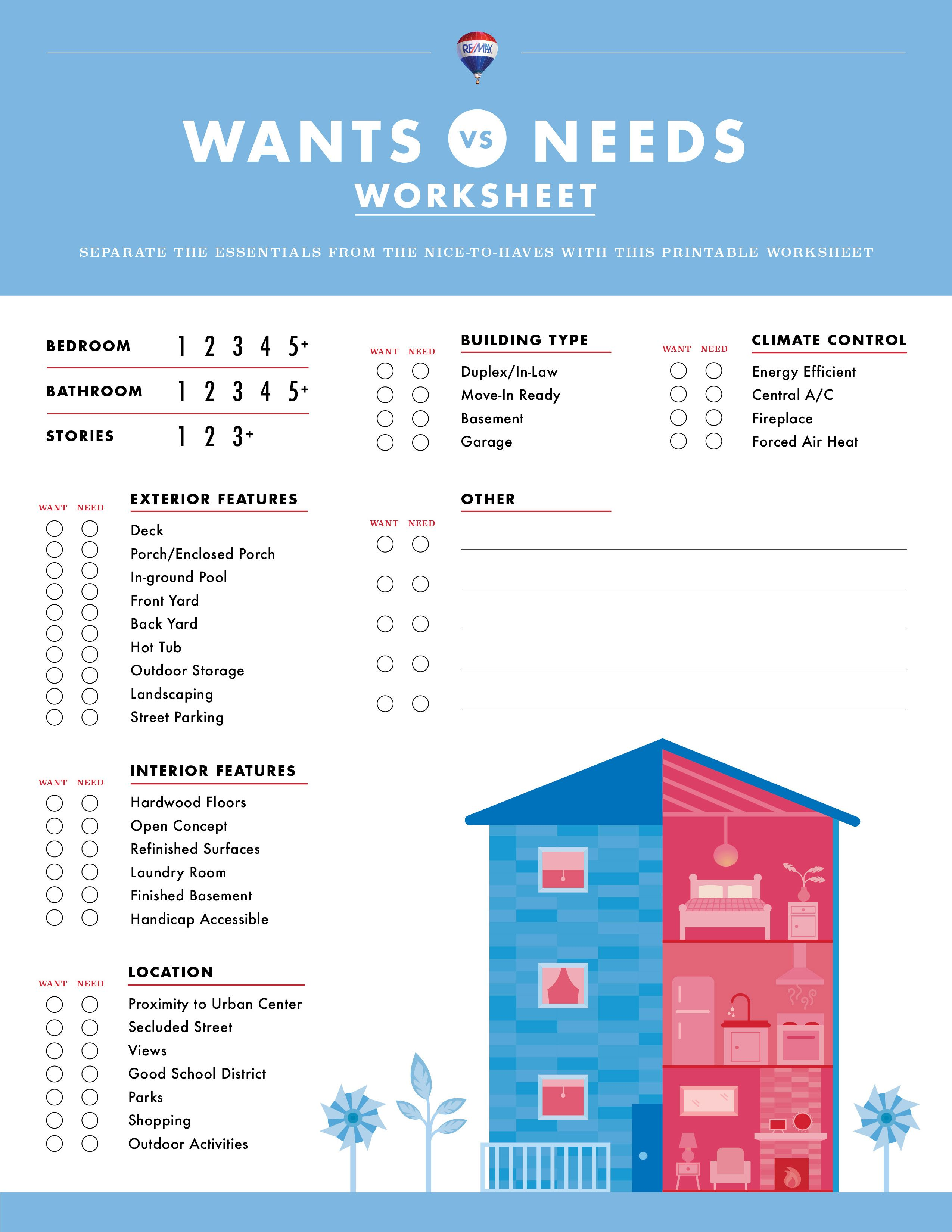 The Line Between Wants And Needs Is Often Blurry And Separating Them Is Tough Print Out This Graphic Checklist A Worksheet Template Needs Vs Wants Worksheets