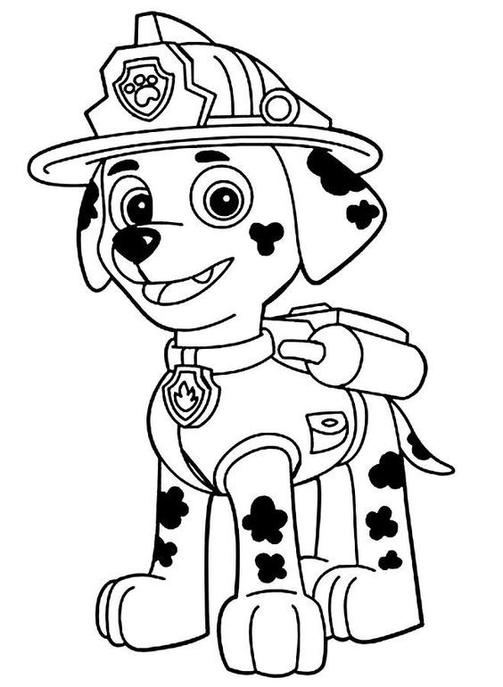Marshall Paw Patrol Coloring Pages Paw Patrol Coloring Paw