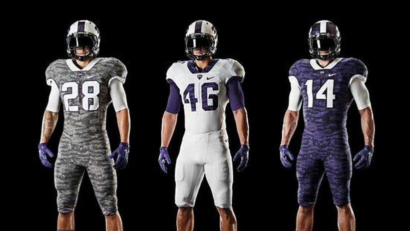 College football color rush uniform concepts