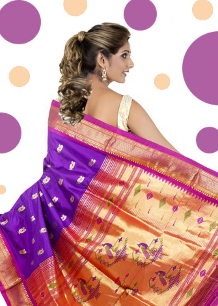 Hairstyle on Saree for Round face - 20 Most Beautiful Hairstyles | Hair styles, Hair puff ...