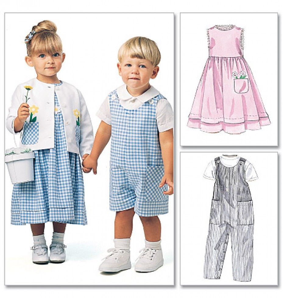 McCalls Toddlers Sewing Pattern 6304 Dresses, Dungarees, Shirts ...