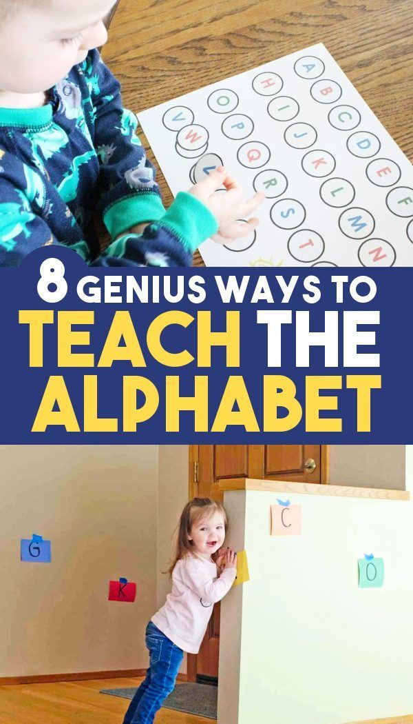 8 Genius Activities for Teaching Letters - Toddlers, Preschool, & Kindergarten