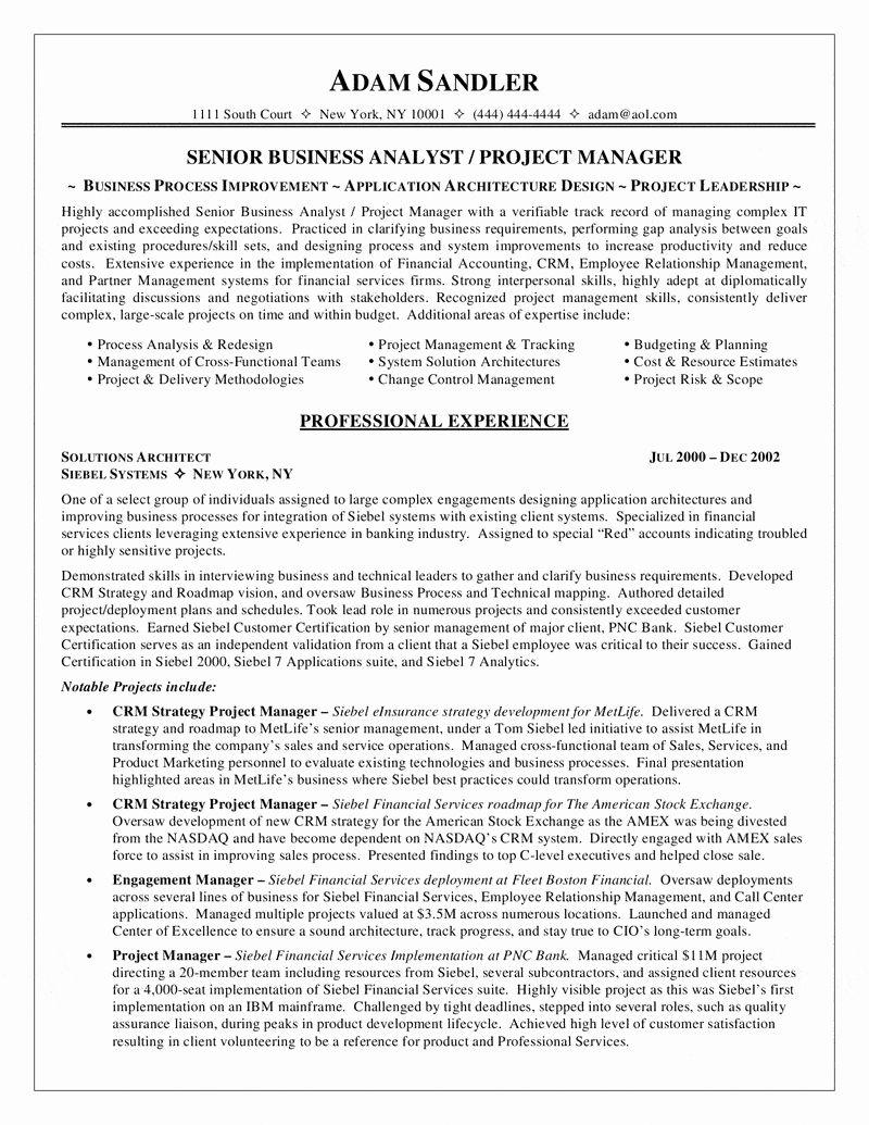 system analyst resume skills