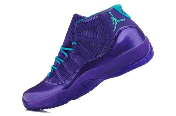 new concept 647ad 0bd31 ... sale nike air jordan 11 retro profondo violeta azul del cielo hombre  zapatillas eur 104.93 nikesneaker