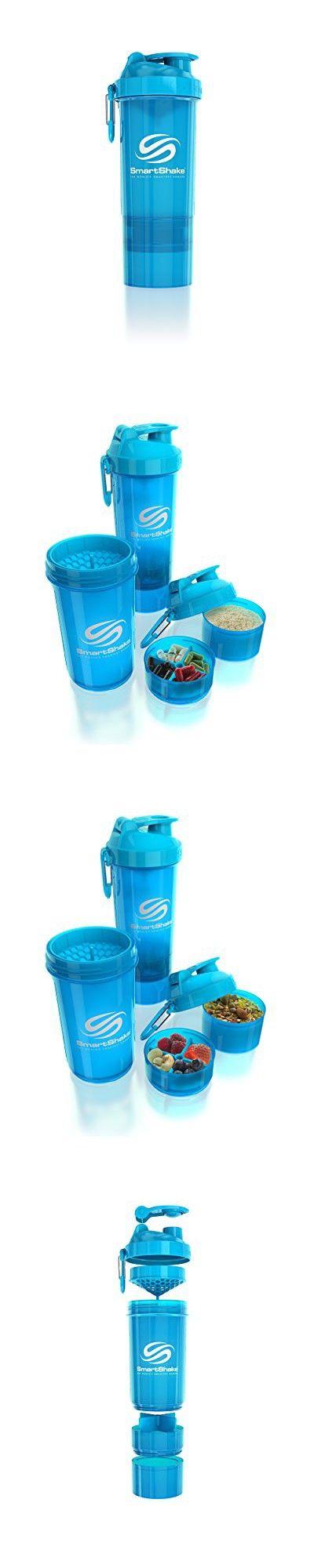 SmartShake Original 2GO Bottle, 27 oz Shaker Cup, Neon Blue ...