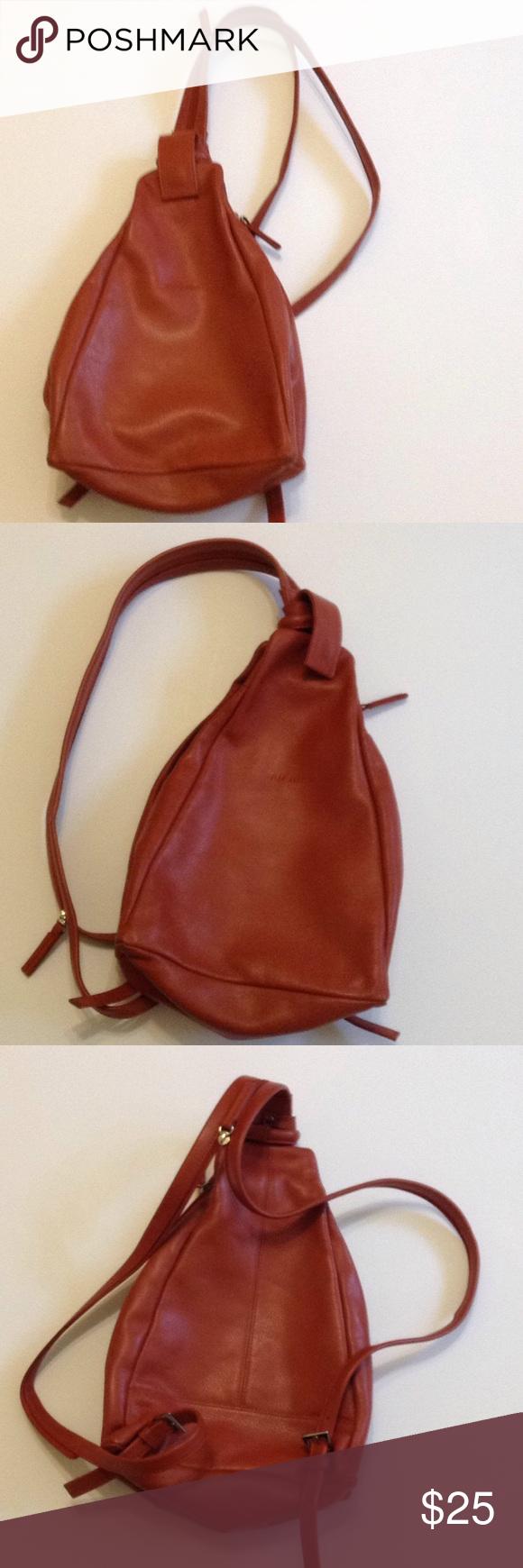 Wilson Leather Backpack purse Burnt Orange Leather