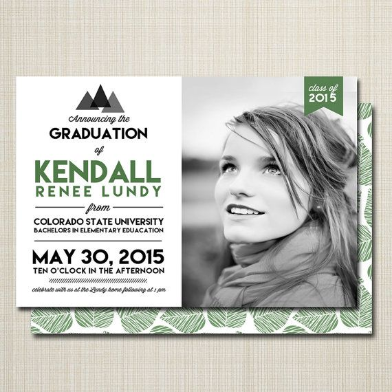 graduation announcement college graduation high by westwillow