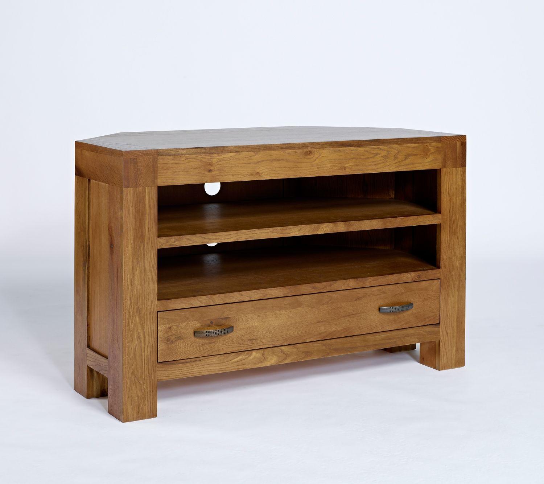 reclaimed oak furniture. Santana Reclaimed Oak Corner TV Cabinet With 1 Drawer \u0026 2 Shelves Furniture C