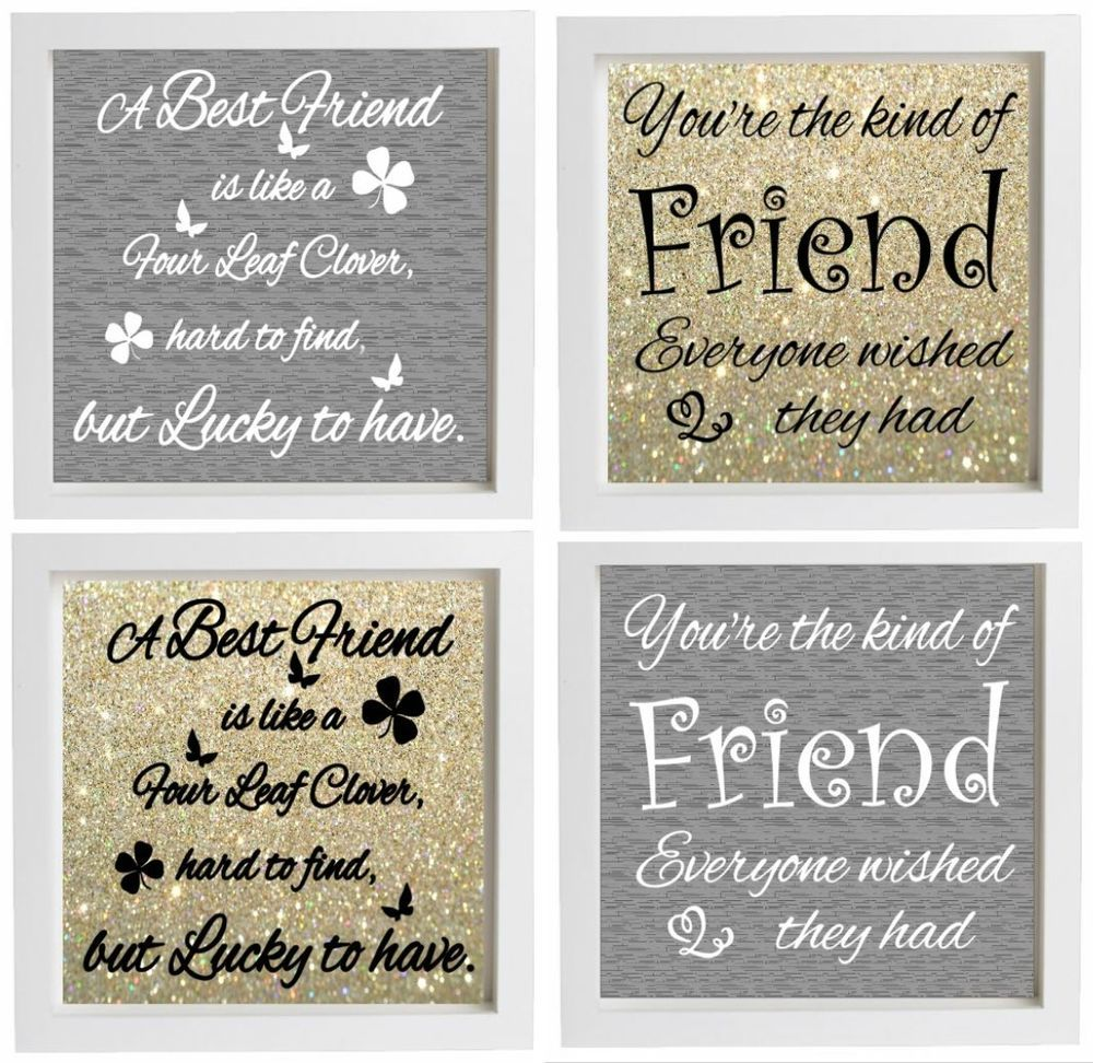 Vinyl Sticker DIY Box Frame fits 20x20cm BEST FRIEND Quote Special ...