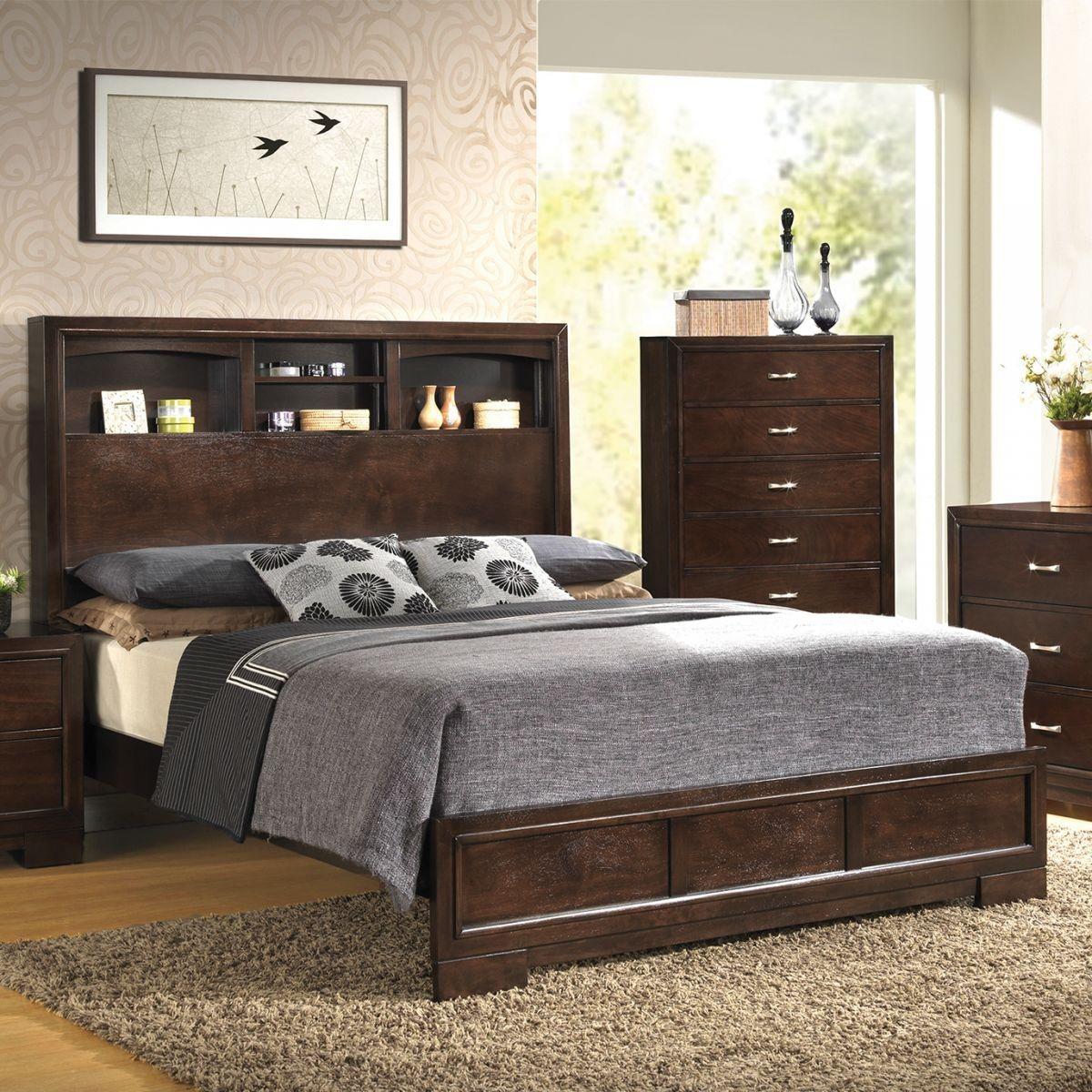 Liam Merlot 5 Pc Queen Bedroom With Images Coastal Bedroom