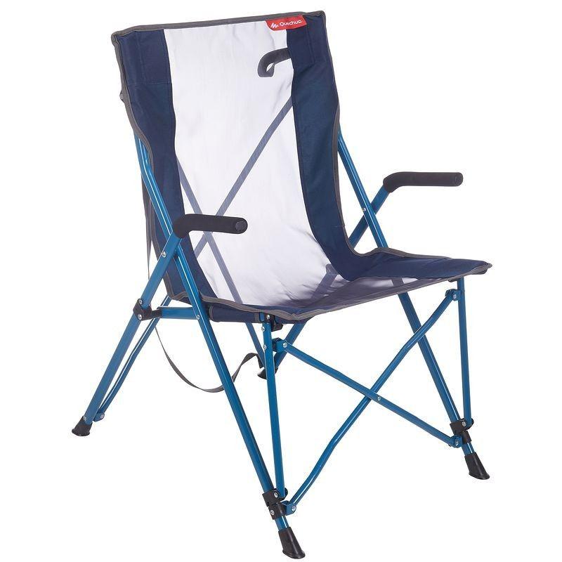 Fauteuil Confort Pour Le Camping Bleu Avec Images Chaises De Camping Fauteuil Pliant Grand Fauteuil