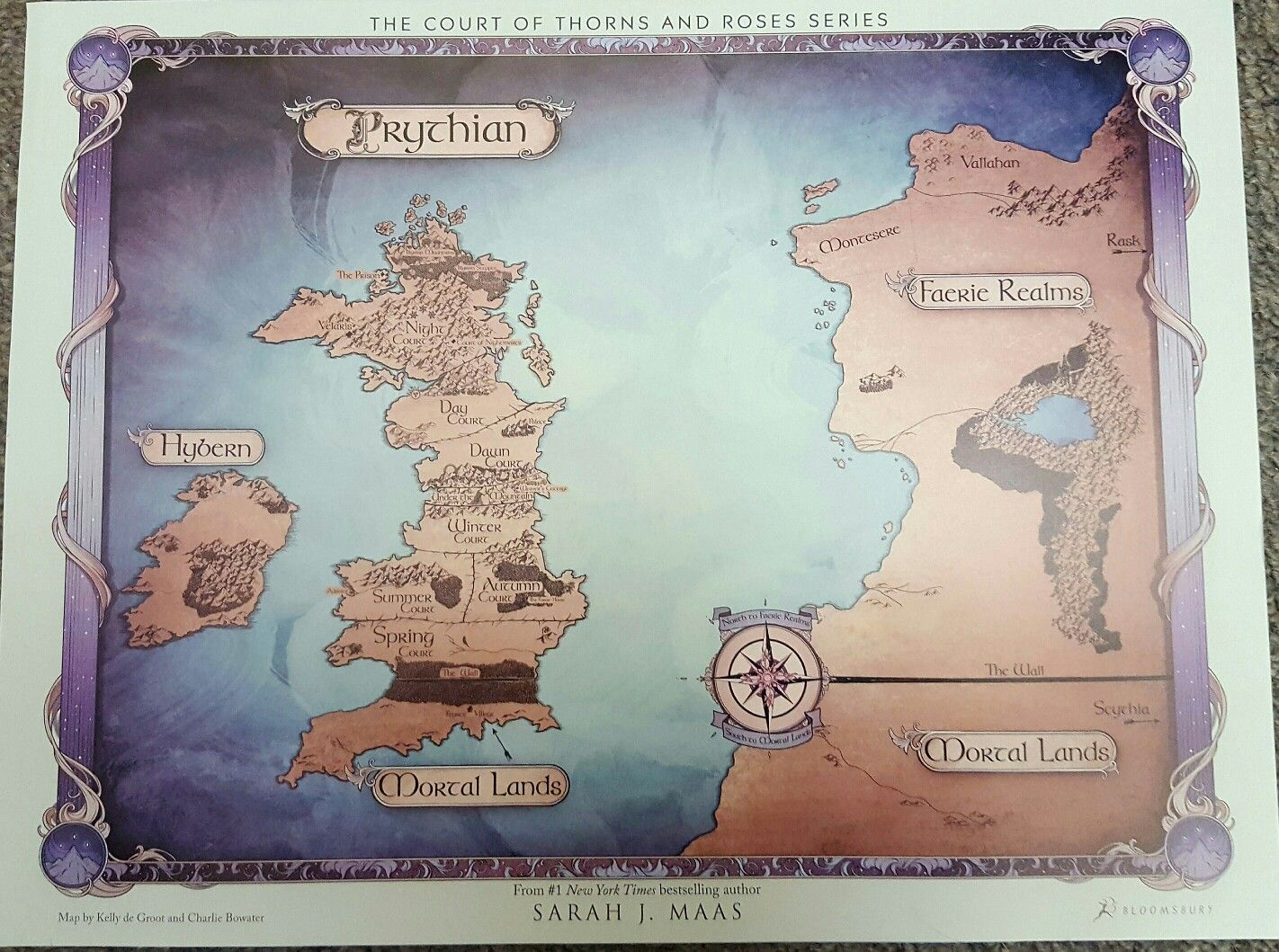 My Pre Order Map Is So Pretty And It Shows Velaris Can T Wait