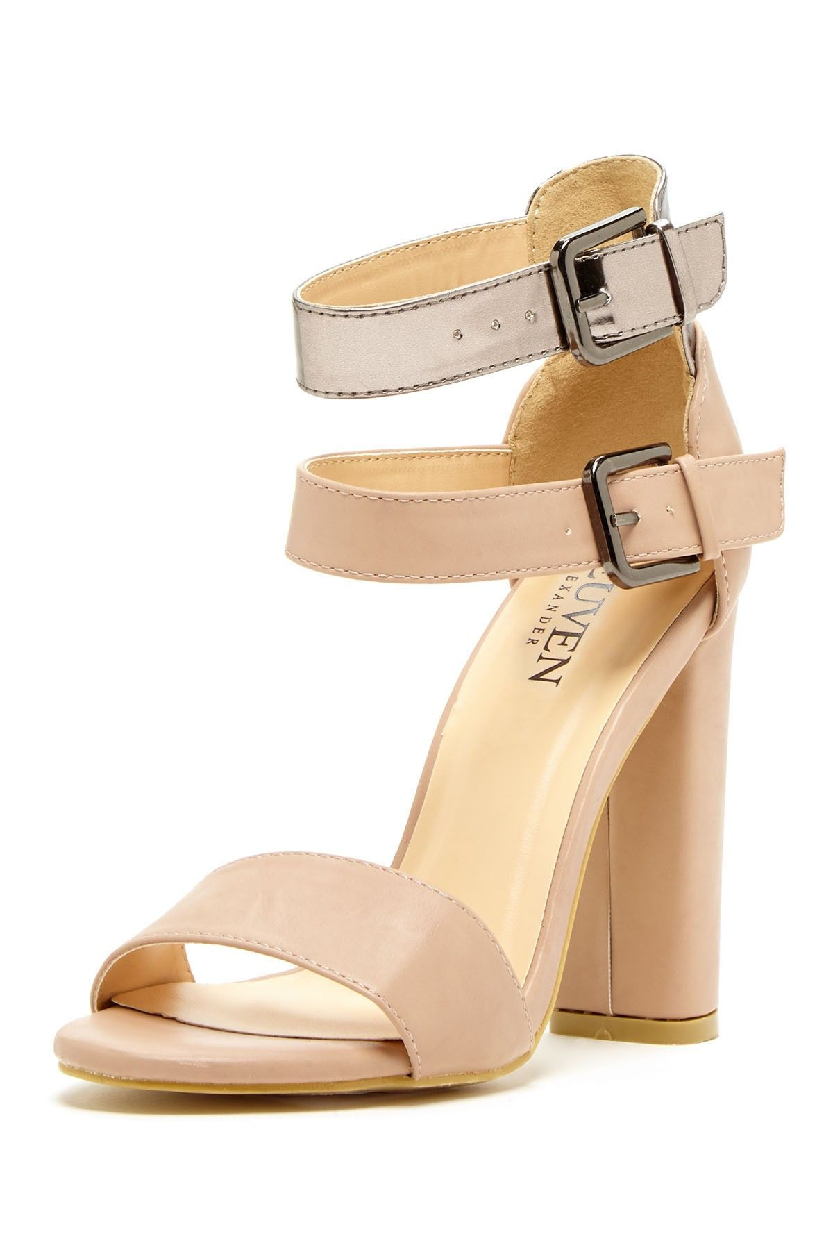Nude sandals - super chic for spring