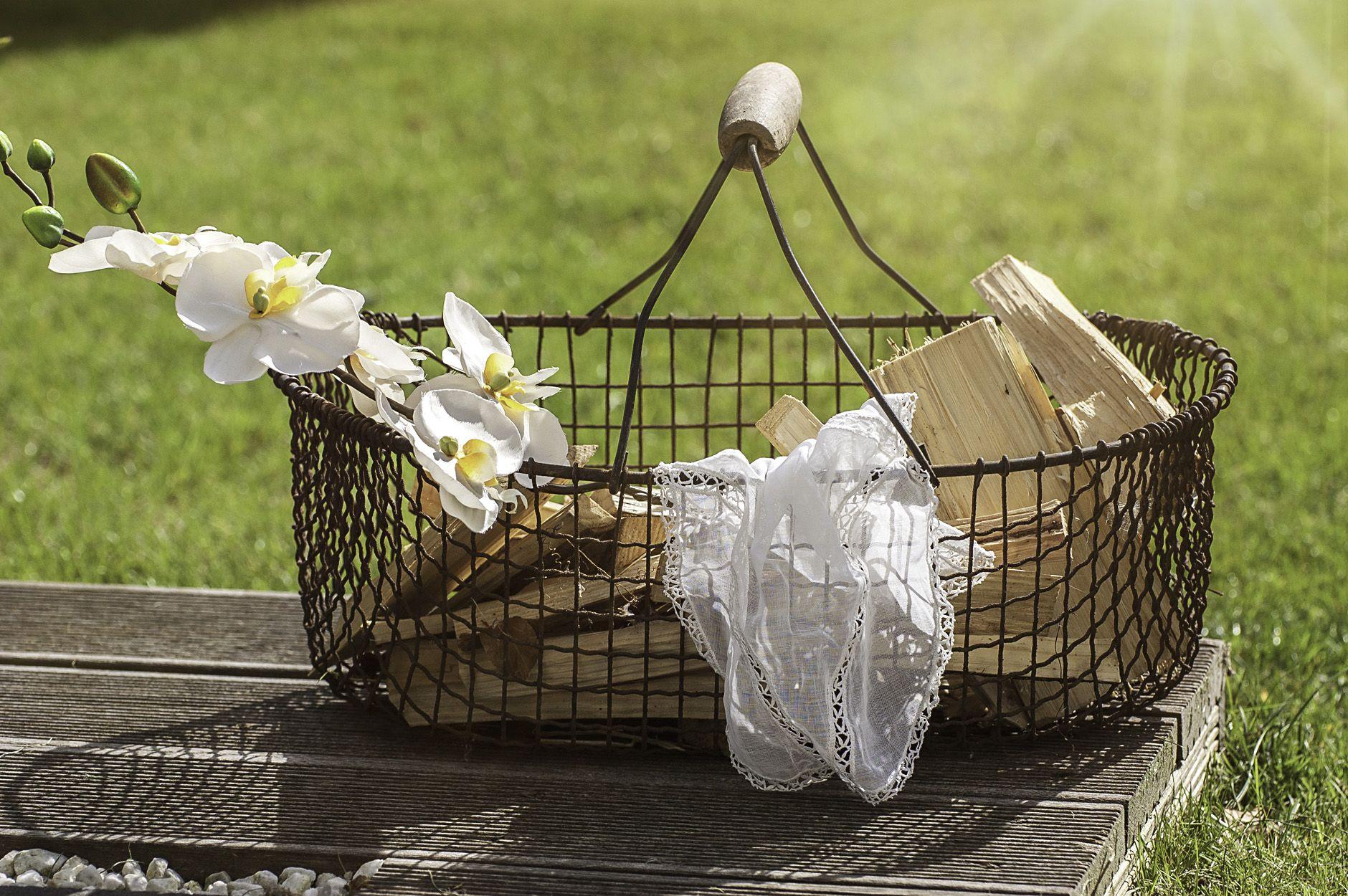 Drahtkorb | Dekorationsverleih für Hochzeiten, Familien- + ...