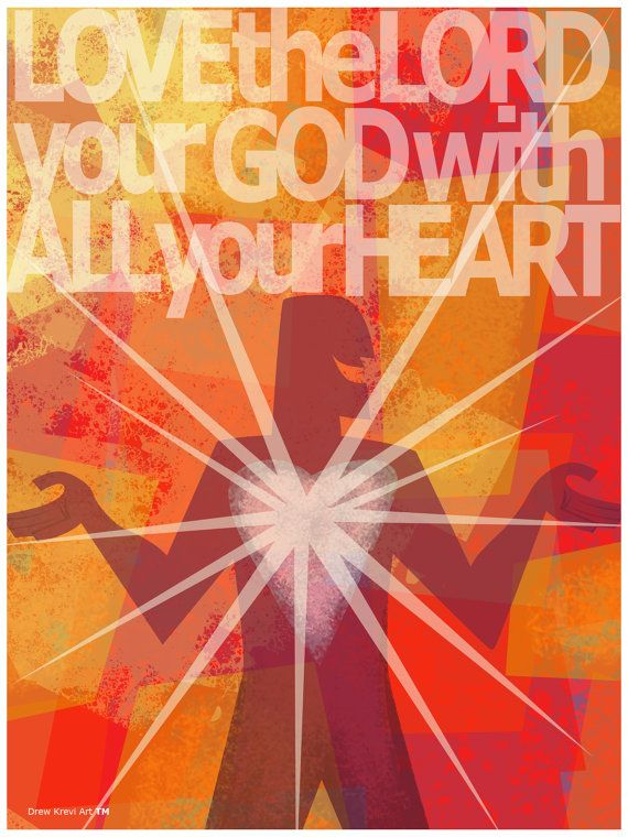 5 Piece Poster Pack, Christian Posters, Church Posters, Luke 10:27,