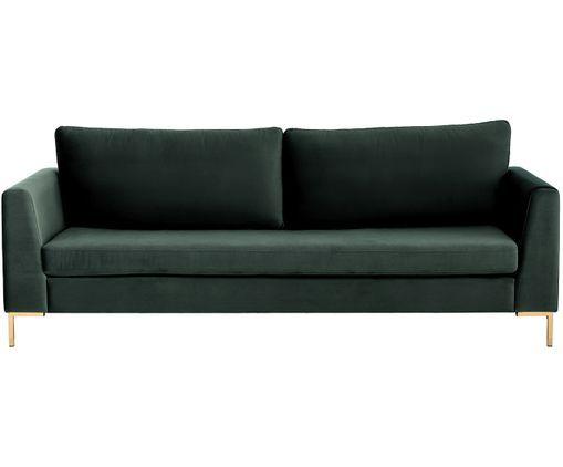 Samt-Sofa Luna (3-Sitzer) | Samt sofa, Sofa reinigen und ...