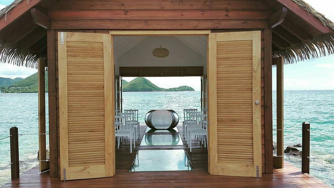 Overwater Chapel At Sandals Grande St Lucian Ceremony Settings