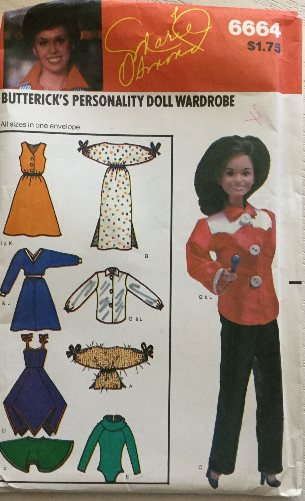 Butterick 6664 Clothes for 11 1/2 or 12 1/4 inch Dolls by Marie ...