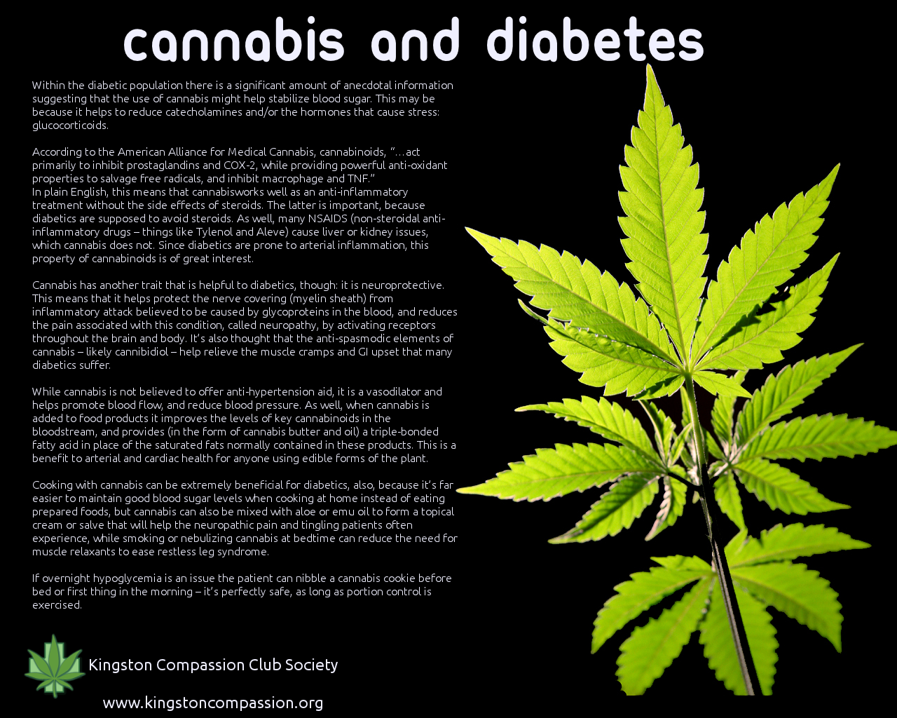 cannabis and diabetes - close to my heart   diabetes new life's