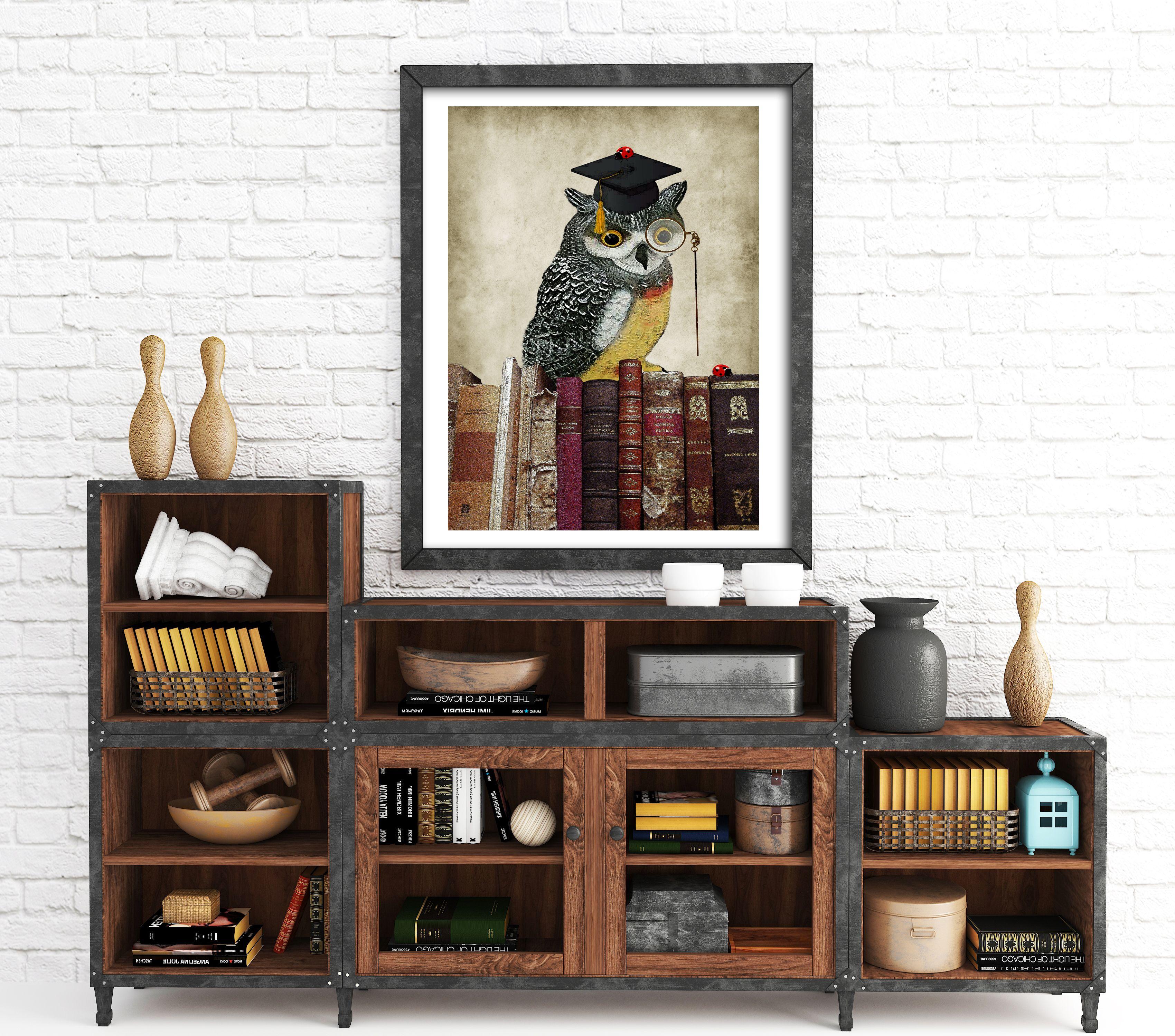 Owl Print Animal Print, Teacher Print, Graduation Gift, Study Wall