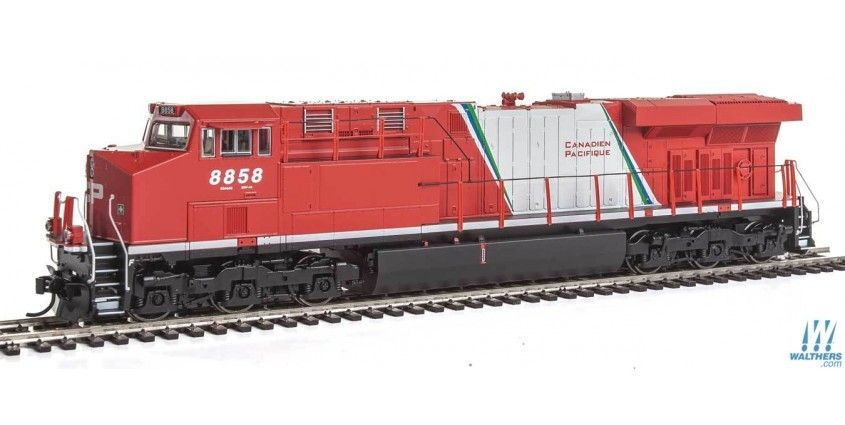 Ge Es44ac Evolution Series Gevo Standard Dc Canadian Pacific 8858 Red White Green Ex Vancouver 2010 Scheme Bilingual Canadian Pacific General Electric Model Trains