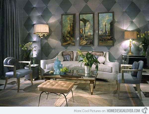 Best Inspirations : James Rixner Inc Venetian Inspired Art Deco Living Room  ~ Refleta