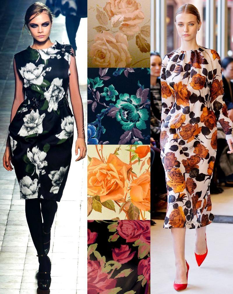 Los patrones Florales llegan al Otoño con unos colores divinos y tonos mucho mas profundos. Love.